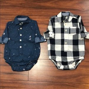 OshKosh B'gosh Button Front Bodysuits Onesies
